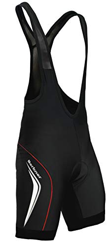 Berkner Derek TR Pantalon de cyclisme à bretelles Noir/vert/menthe/vert fluo Tailles S à 5XL (noir/rouge, 4XL)