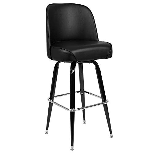 Flash Furniture Metal Barstool with Swivel Bucket Seat