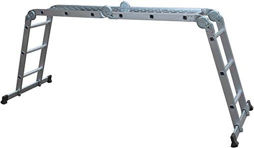 Aluminium multifunctionele ladder 4 x 3 sporten incl. werkblad
