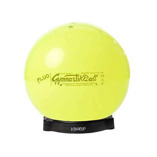 PEZZI Original Gymnastikball Standard Fluo Ø 42 cm bis 75 cm inkl. Ballschale Gelb, Ø 75 cm - bis 185 cm Körpergröße