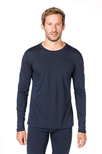 Super.natural Tee-shirt Manches Longues pour Hommes, Laine mérinos, M BASE LS 140, Taille: XXXL, Couleur: Bleu foncé