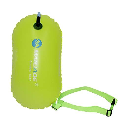 Sharplace Flotador de Remolque de Boya de Natación Inflable Liviano con Cinturón para Triatletas de Natación en Aguas Abiertas - Amarillo