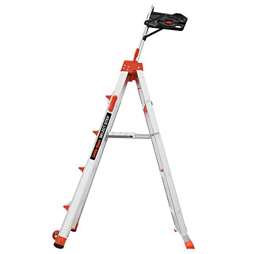 Little Giant Ladders, Select Step with AirDeck Accessory, 5-8 foot, Stepladder, Aluminum, Type 1A, 300 lbs weight rating, (15125-001)