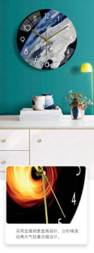 XMBT Uhr dekorativ-Rahmen Wanduhr Stilvolle Moderne Familie Bilderrahmen und Zeitmesser Wanduhr Silent Non Ticking Clock Römische Wanduhr Schlafzimmeruhr,Size:14Inch