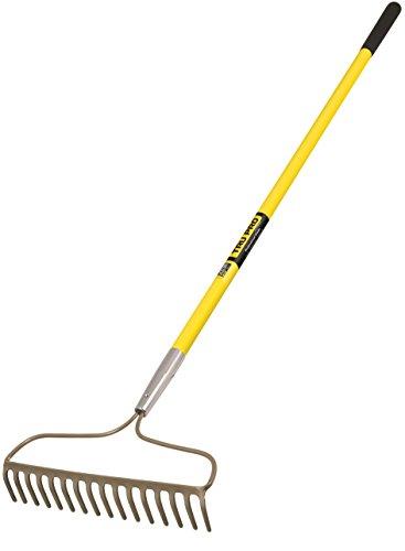 Truper 31380 Tru Pro 60-Inch 16 Teeth Forged Bow Rake, Fiberglass Handle, 10-Inch Grip