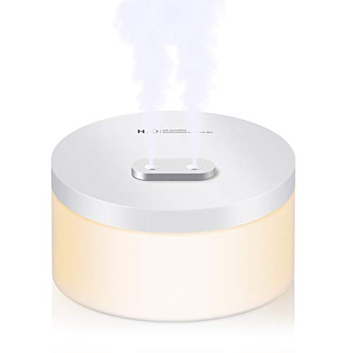 Ultraschall Luftbefeuchter Aroma Diffusor, JOLVVN 1000ML Aromatherapie Diffuser ätherische Öle Duftlampe 2 Zerstäubungsmodi mit LED Stimmungslicht Yoga, Büro, SPA, Schlafzimmer