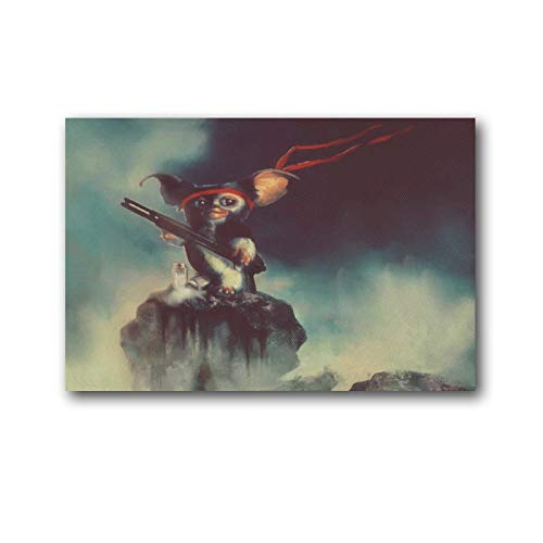 YANGNA 5-Gremlins Movie Gizmo Print Photo Art Painting Canvas Poster Home Decorative Bedroom Modern Decor Posters Gifts 12×18inch(30×45cm)