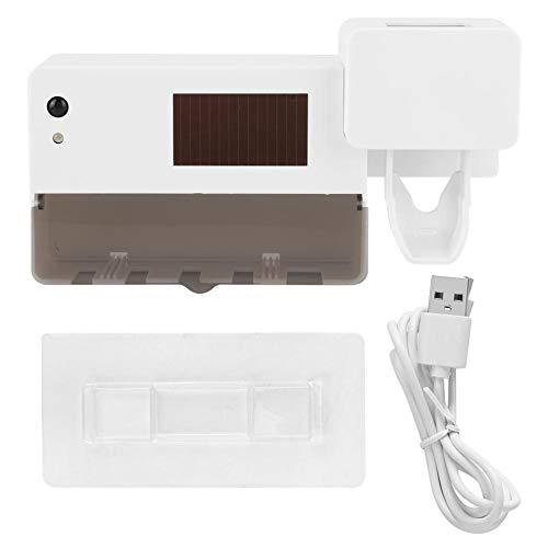 Atyhao Zahnpastaspender, Badezimmer USB Solar Sterilisation Desinfektion Zahnbürstenhalter Automatischer Zahnpastaspender Quetscher