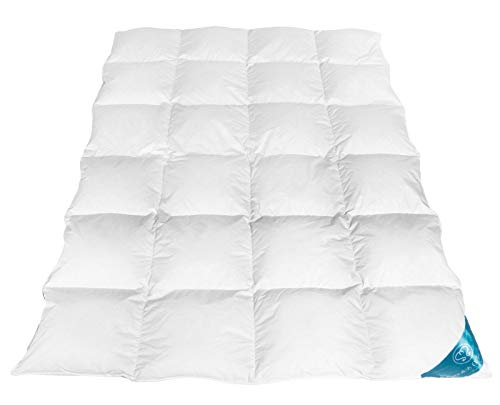 Sandaro Bettdecke Daunendecke Daunenbettdecke Gänsedaunen Decke Daunen Steppdecke 100% Naturprodukt (135x200 cm, 1600)