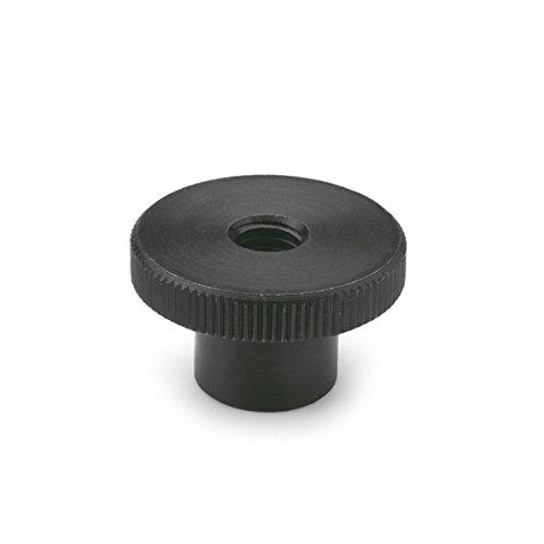 Ganter Normelemente | Hohe Rändelmutter - DIN 466-M6 | Stahl brüniert | 15 Stück