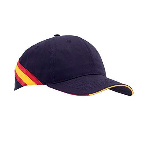 Lote DE 10 Gorras Azul Marino- Bandera ESPAÑA- Clasica-Hombre animar a Las selecciones Españolas de culaquier Deporte.