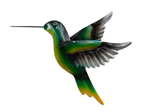 KLP Wanddeko Vogel Kolibri Ziervogel Metall Deko Hänger Figur Skulptur Eule Wandbild