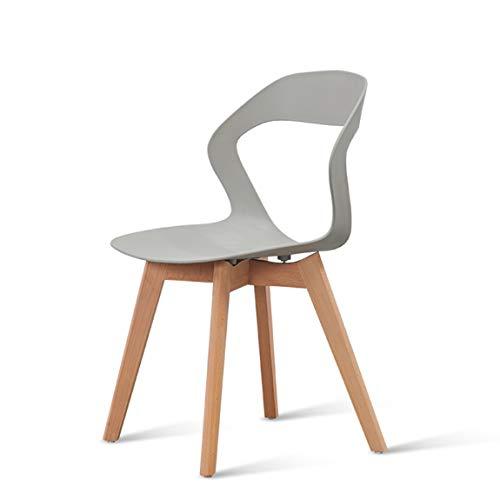 PLL Nordic eetkamerstoel, Home Computer stoel, moderne eenvoudige rugleuningsstoel, slaapbank, grijs