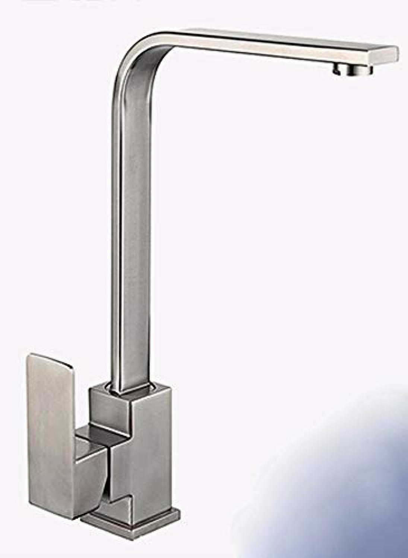 Ywqwdae Edelstahl drehbare heie und kalte Waschbecken Wasserhahn