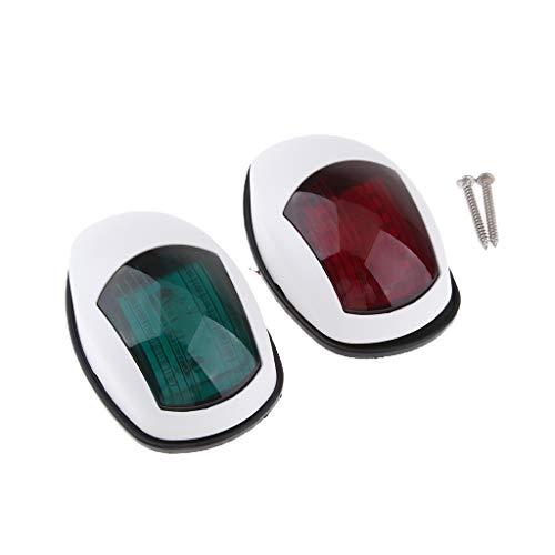 IPOTCH Luces Accesorias de La Lámpara Del Encendedor de La Luz de Navegación Del LED Marino Rojo Y Verde 12V