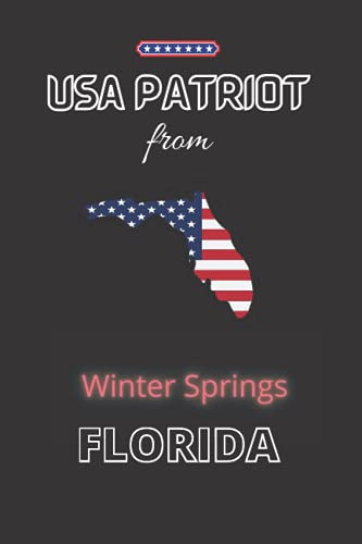 USA Patriot from University CDP, FLORIDA: The perfect United States diary notebook for patriotic Americans from University CDP, FLORIDA gift, 120 Pages Lined Journal Paper
