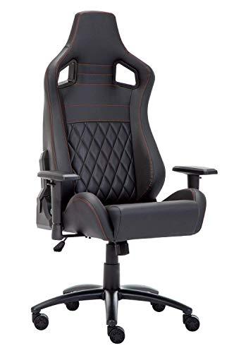 Silla de oficina ejecutiva, moderna para juegos de carreras con reposabrazos ajustables y función reclinable, asiento ergonómico de respaldo alto, silla de juego de PC, BIFMA&SGS pasado (negro)
