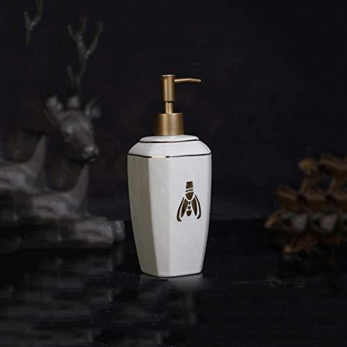 Bomba de jabón líquido de loción recargable Little Bee dispensador de jabón Crystal Clear y textura loción Dispensadores Ideal decorativo y útil regalo for el hogar También para el cuidado de las mano