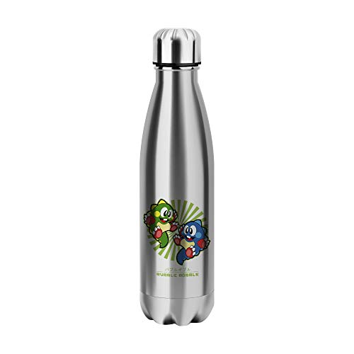 Desconocido Bubble Bobble Vintage Japan Water Bottle CO211 Botella de Agua Stainless Steel Funny Insulated 500ml Thermos For Hot and Cold Sports Gym Drink Flask