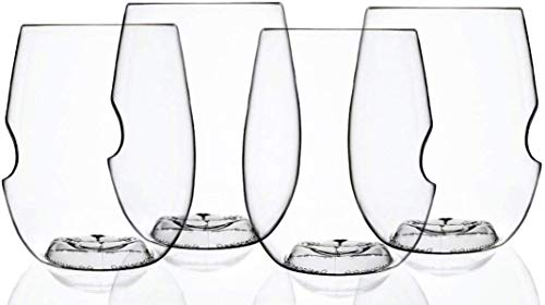 Govino Go Anywhere Dishwasher Safe Flexible Shatterproof Recyclable Wine Glasses, 16-ounce, Set of 4 and a Wine Savant Glass Cleaning Towel (2 Piece Bundle)