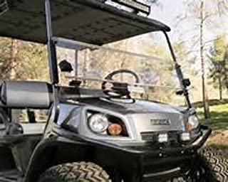 EZGO Express L6 Tinted Fold Down Impact Resistant Windshield for EZGO Express L6 Golf Cart with 1