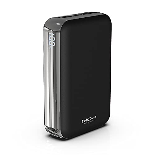 MOXNICE Power Bank 20000 mAh, Batterie Externe USB C avec 2 Sorties USB pour Smartphones et Tablettes (Noir)