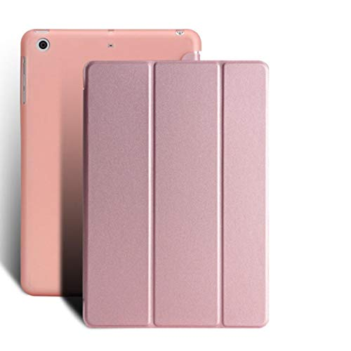 Case for Apple iPad Air 2 Ultrathin 3 Fold Cover for Ipad 6 Transparent TPU Back Cover Smart Sleep Tablet 9.7 case Function+Film,Rose Gold