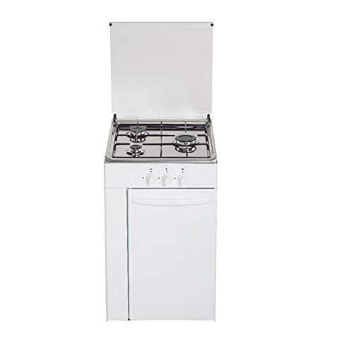 Cocina de gas butano/natural HVG CPB, 3 quemadores, acabado Blanco