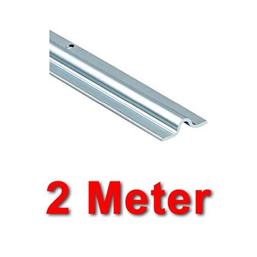 BAUER - Schiene VZ Aufschrauben 16mm, Länge 2m | Schiebetor, Laufschiene, Hoftor, Tor, einfahrt
