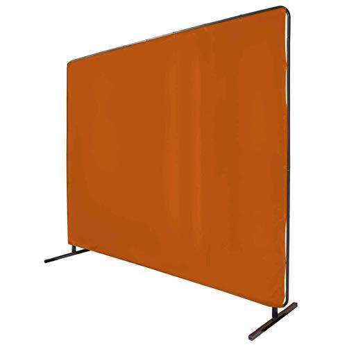Revco 6X8VF1-ORA 6'X8' 14 mil. 1 Panel Orange Saf-Vu Welding Screen with Frame