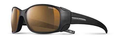 Julbo Monterosa Cameleon–Gafas de Sol, Lente ahumada antiempañamiento, para Mujer, Color Negro Mate/Negro