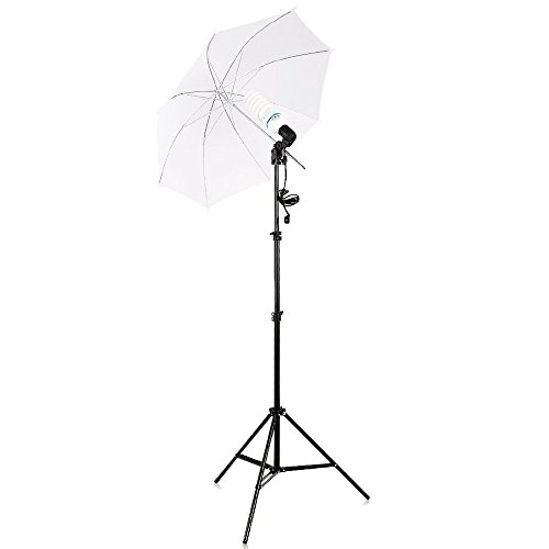 TRUMAGINE Umbrella Lighting Kit, Professional Lighting for Studio Photography, Portrait Lighting and Video Lighting with 135W LED Lamp+White Backdrop