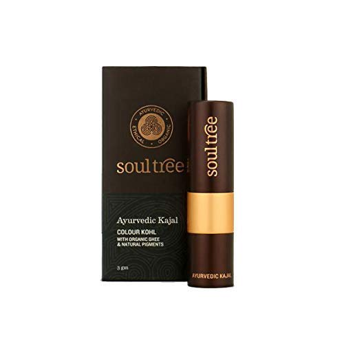 SoulTree Ayurvedic Kajal, 006 Mood Indigo Colour, 3 Gram