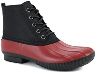 AVANTI Cruze Womens Duck Boots Waterproof Rainboots 7 Red and Black product image