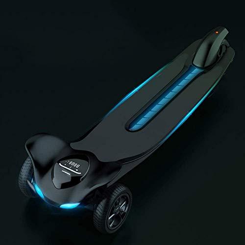 YLLN Electric Skateboard, Elektrisches Longboard mit Fernbedienung für Erwachsene Batteriefach, Ergonomische Fernbedienung, Motorisiertes Board, Schwarz