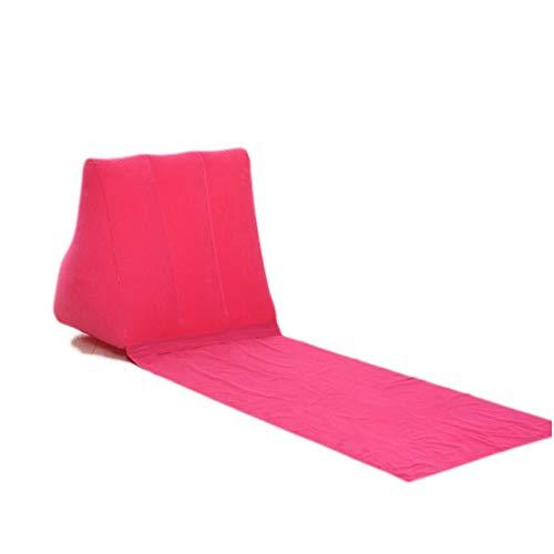 RB Aufblasbarer Strandkorb mit Keilform Rückenkissen - Perfekt für Camping und Urlaub, rosig