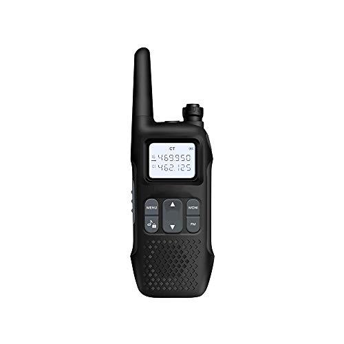 HDCDKKOU Mini portátil inalámbrica de Larga Distancia 5W Profesional walkie 99 Canal de Memoria walkie Talkie, de Carga USB/Pantalla LED de Chips/Independiente (Negro)