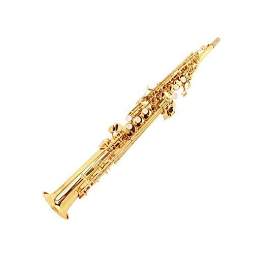 Chenjinxiangou01 Saxofoon Down B Viool Saxofoon met rechte buis, geschikt voor beginners om muziekinstrumenten te spelen, sterk en sterk 65 cm.