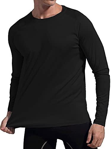 Camiseta UV Protection Masculina UV50+ Tecido Ice Dry Fit Secagem Rápida G Preto