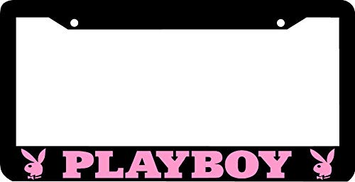 ShopForAllYou Frame Black Pink Playboy License Plate Frame