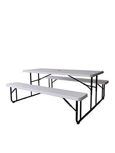 Iceberg IndestrucTable Classic Folding Picnic Table, Platinum Granite