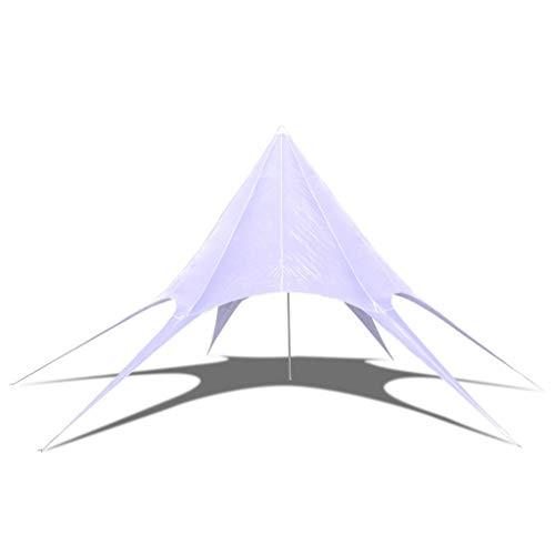 Festnight Zeshoekige piramidetent Star Garden Pavilion Ultralichte tent 3-seizoen campingtent voor 2-3 personen buiten kamperen, waterdichte rugzak piramidetent, snelle opzet Tipi tent 12 m