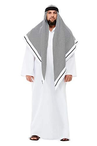 "Smiffys 50802M Deluxe Fake Sheikh Costume, Men, White, M - Size 38""-40"""
