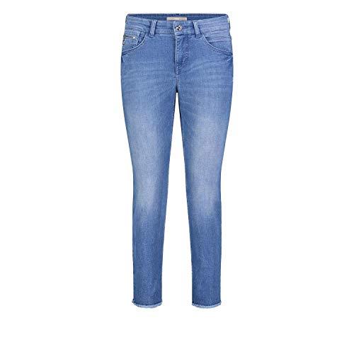 MAC Jeans Damen Slim Fringe Straight Jeans, Blau (Light Blue Edgy Wash D245), 34W / 27L