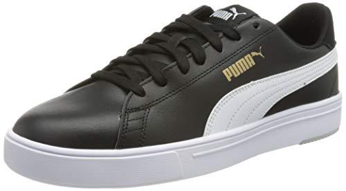 PUMA Serve Pro Lite, Zapatillas Unisex Adulto, Negro Black White Team Gold, 42.5 EU