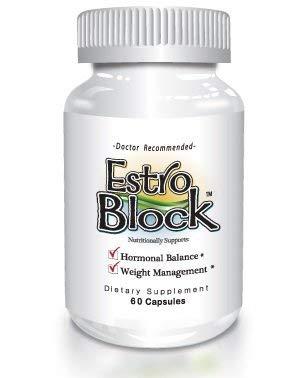 Estroblock - 60 Capsules, DIM and Indole 3-Carbinol for Natural Hormonal Hormone Balance, Acne - Anti Toxic Estrogen Aromatase Inhibitor Blocker. Soy-Free, Dairy-Free, Non-GMO