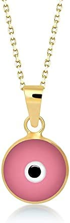 GELIN 14k Solid Gold Evil Charm Protection Necklace Miami Oakland Mall Mall Pendant Eye