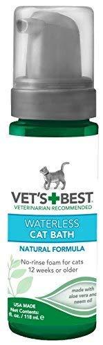 Vet's Best Waterless Cat Bath | No Rinse Waterless Dry Shampoo for...