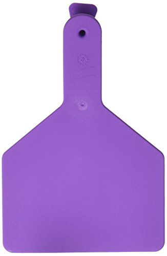 Z Tags 25 Count 1-Piece Blank Tags for Cows, Purple