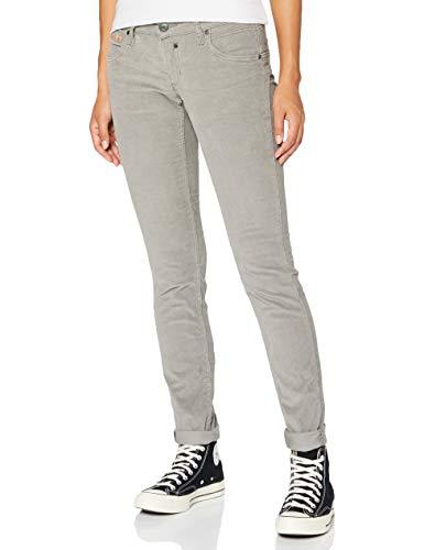 Herrlicher Damen Touch Slim Cord Stretch Hose, Grey 70, W32/L32